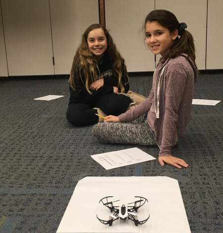 Students at Schmucker Learning about Drones