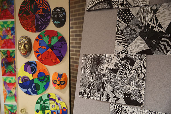 Schmucker student art display