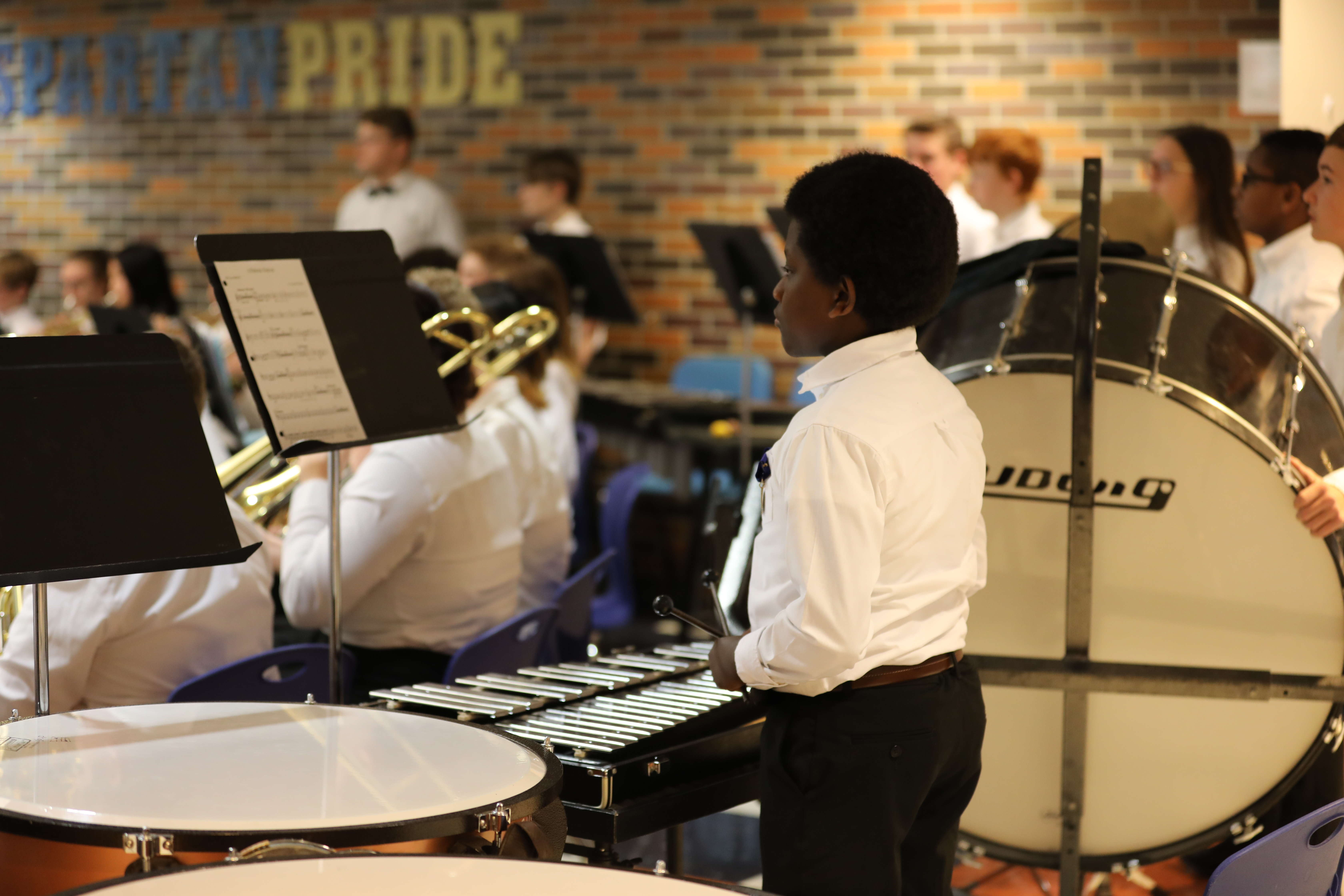Schmucker Music Student at 2020 Veteran's Day program