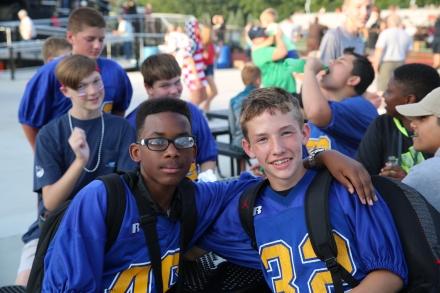 Schmucker football student-athletes