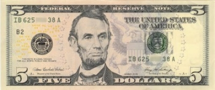 Lincoln dollar bill