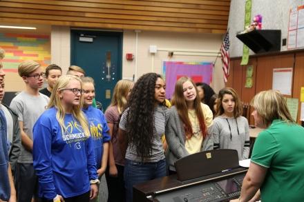 Schmucker choir students