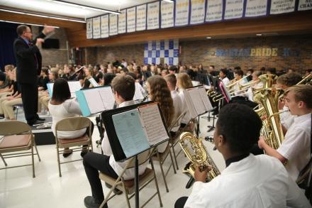 Schmucker Orchestra students
