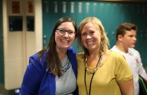 Principal Dean-Null with 6th grade math teacher Mrs. Erica Briones