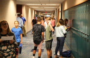 Students excited for the 1st Day of School