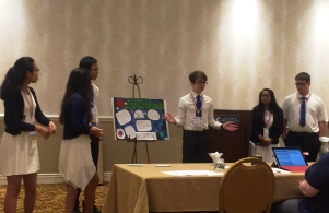 Schmucker TEAMS students presenting to a panel of judges was one part of the 3-part competition.