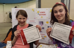 Regional Science Fair @ Notre Dame - Breanna & Jasmine