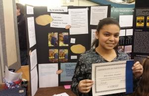 Regional Science Fair @ Notre Dame - Arianna